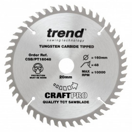 160 X 20MM X 2.2 X 48 TEETH BLADE