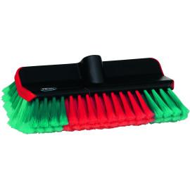 Washing Brush, Water fed, High/Low, 280 mm, Soft/split, Black
