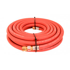 10MM 10MTR 3/8 FITTED RED HOSE