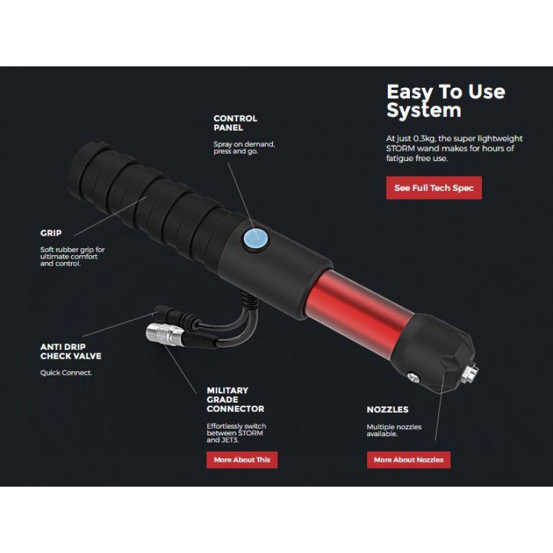 STORM-  Ballistic Virus Battery Operated lance Sprayer