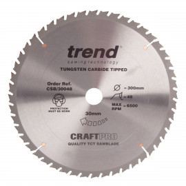 Trend Craft Pro saw blade - 300mm diameter 30mm bore 48tooth TCT