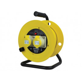 HEAVY DUTY CABLE REEL 25M 2.5MM 110 VOLT