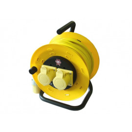 HEAVY DUTY CABLE REEL 50M 1.5MM 110 VOLT