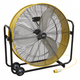 "Industrial High Velocity Drum Fan 30"" 2  Speed 110V"