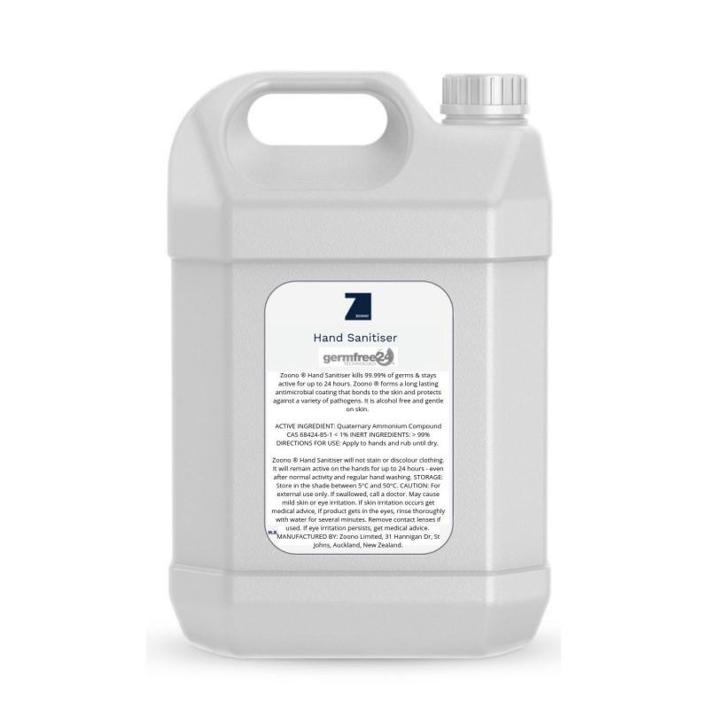 Zoono Hand Sanitiser GermFree24 (5ltr)