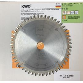 KWO 160 X 2,2/1.6 X 20 X Z52 WZ BLADE