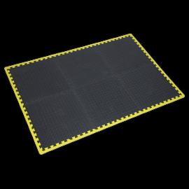Interlocking EVA Foam Workshop Mat Set 1240 x 1825mm with Hi-Vis Edges