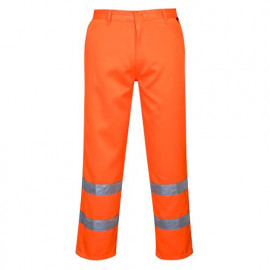 PORTWEST - Hi-Vis Poly-cotton Trousers - E041