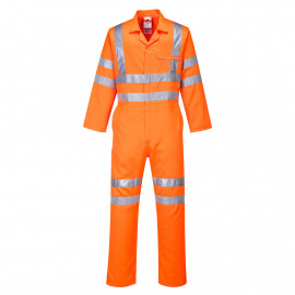 RT42 - Hi-Vis Poly-cotton Coverall RIS Orange