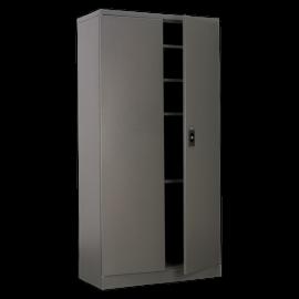 Industrial Floor Cabinet 4 Shelf 2 Door