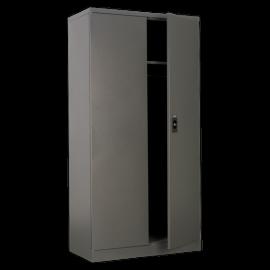 Industrial Floor Cabinet 4 Shelf plus Hanging Rail 2 Door