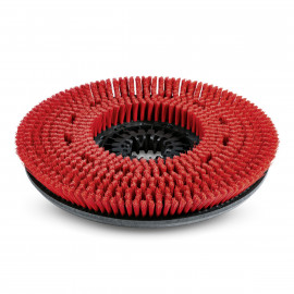Disc brush, medium, red, 355 mm