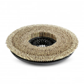 Disc brush, soft, natural, 355 mm